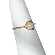 14K Gold Cultured Pearl Ring Size 5