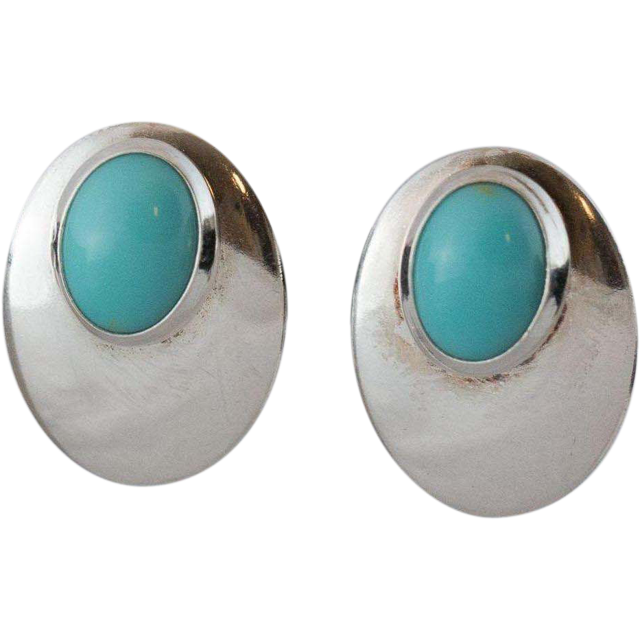 back post earrings sterling silver turquoise post back earrings from 928