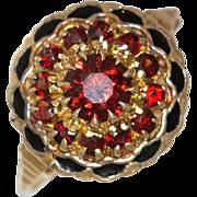 10K Yellow Gold | Victorian Ruby & Enamel Ring |