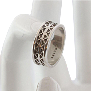 Signed Sterling Silver Band Size 6-1/2