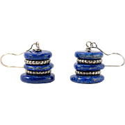 Sterling Silver | Lapis Lazuli | Dangle Earrings |