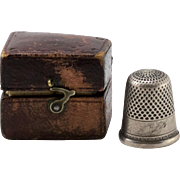 Antique Thimble | Original Thimble Box