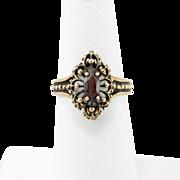 10K Yellow Gold | Garnet Ring | Size 6-3/8