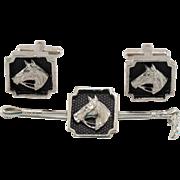 Equestrian | Tie Bar & Cufflinks