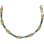 14K Yellow Gold | Opal Bracelet | 13.9 Grams | 7-1/4 Inches