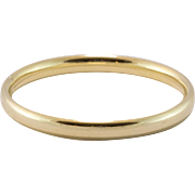 Gilt Silver   Baby Bangle Bracelet   2-5/8 Inches