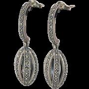 Sterling Silver  | Marcasite |  Drop Earrings