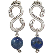 Sterling Silver | Lapis Lazuli | Dangle Earrings