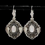 Sterling Silver | Moonstone | Lever Back Earrings