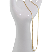 14K Yellow Gold   18-Inch   Flat Hammered Chain   5.5 Grams