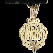 14K Yellow Charm | 'Best Grandma'