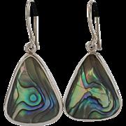 Sterling Silver | Abalone Drop Earrings