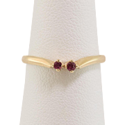 14K Yellow Gold   Double-Ruby Ring