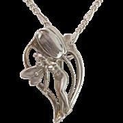 Tulip Fairy Pin/Pendant | Sterling Silver