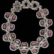 Sterling Silver | Amethyst Bracelet | 34.0 Grams