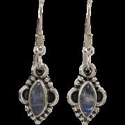 Sterling Silver | Rainbow Moonstone Earrings