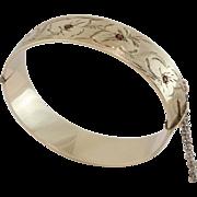 9ct Rolled Gold   Garnet Bracelet