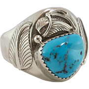 Men's Sterling Silver | Turquoise Ring | Size 12-1/4