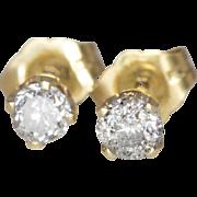 14K Yellow Gold | .30 Carat TCW | Diamond Earrings
