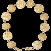 14K Gold | Sand Dollar & Sea Shell Bracelet