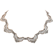 "38.4 Grams Sterling Silver  | 15-1/2""  Choker Necklace in Repousse"