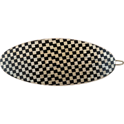 Checkered Lucite Hair Barrette