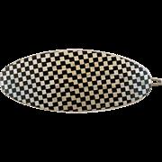 Checkered Lucite Hair Barrette