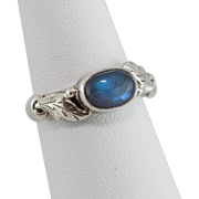 Sterling Silver | Labradorite Ring | Size 6
