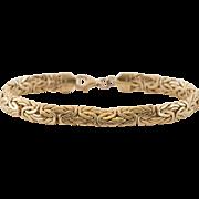 14K Yellow Gold | Byzantine Bracelet | 7-3/8 Inches