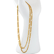 14K Yellow Gold Figaro Chain | 22.5 Inches | 13.6 Grams