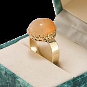 Vintage | 14K Rose Gold | Jelly Opal Ring | Size 8