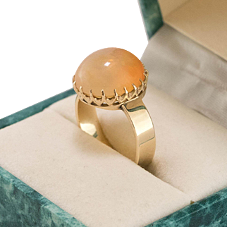 Vintage | 14K Rose Gold | Jelly Opal Ring | Size 8