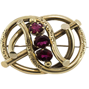 Fabulous | Victorian | Garnet Glass Brooch