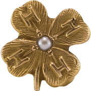 10K 4-H | 4-Leaf Clover Pin