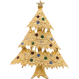 Eisenberg Ice | Christmas Tree Pin with Crystals