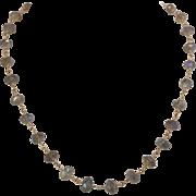 Vintage 14K Yellow Gold | Labradorite Bead Necklace