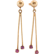14K Yellow Gold | Ruby Earrings