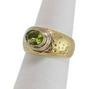 14K Yellow & White Gold | Peridot Ring