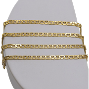 Italian | 14K Yellow Gold | 19-1/2 Inch Mariner Chain