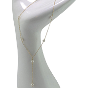 14K Yellow Gold | Pearl Y-Necklace