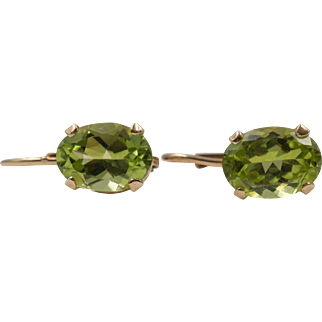 14K Yellow Gold | Peridot Earrings