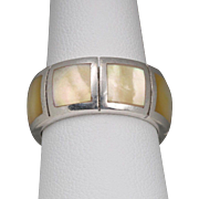 Sterling Silver | Yellow Mother-of-Pearl | Band/Ring