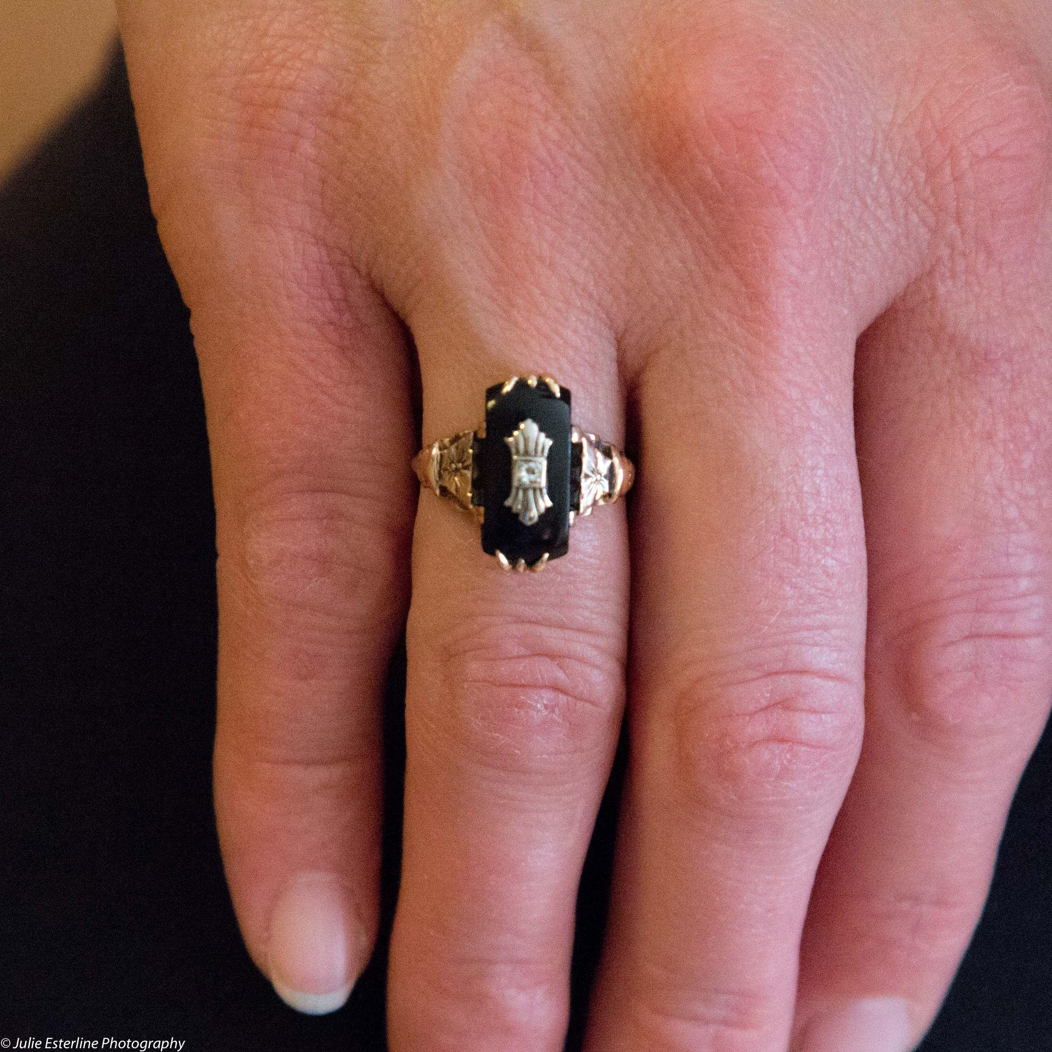 New Black Onyx Diamond Wedding Rings | Wedding
