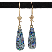 10K | Australian Mosaic | Opal Drop Earrings