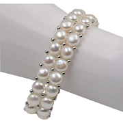 Chinese | Freshwater Cultured | Button Pearl | Stretch Bracelet