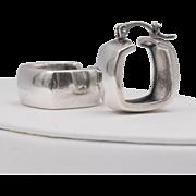 999 Silver | Wide | Huggy Hoop Earrings - Red Tag Sale Item
