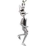 Fully Articulated | Pinocchio Pendant | Sterling Silver