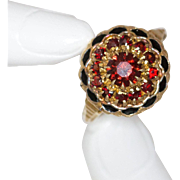 10K Yellow Gold | Vintage | Garnet & Enamel Ring