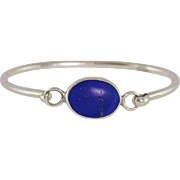 Sterling Silver | Lapis Bangle Bracelet