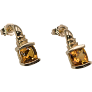 14K YG | Orange Citrine Earrings